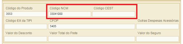 NF-e - NCM x CEST